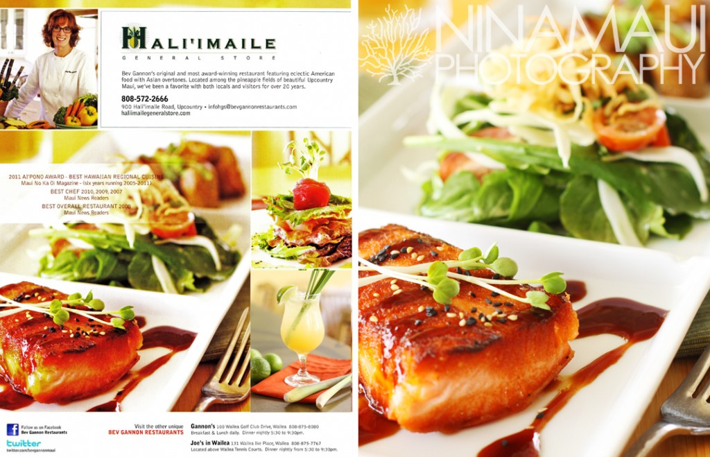 Nina Maui Photography Haile Maile 1 1024x659 Haliimaile General Store Back Cover Ad for Upcountry Dining Magazine