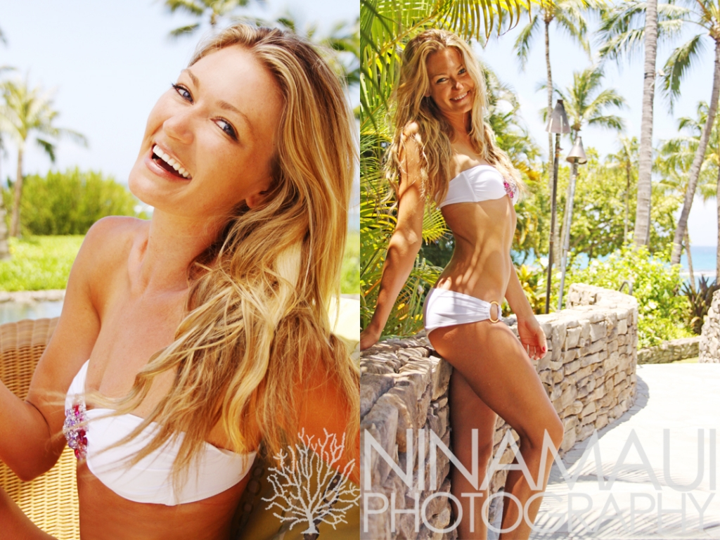 Nina Maui Photography Tropical Portrait 1024x768 Portrait at the Kapalua Bay Beach Club