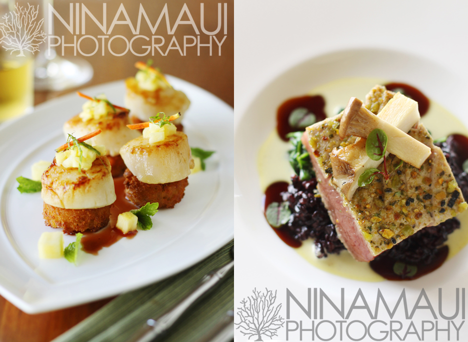 Nina Maui Photography Pineapple Grill Chef Isaac Boncaco 1 New Menu at Pineapple Grill Kapalua featuring edible art by Chef Isaac Bancaco