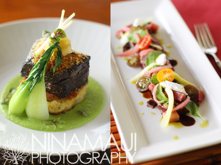 Nina Maui Photography Pineapple Grill Chef Isaac Boncaco 3 New Menu at Pineapple Grill Kapalua featuring edible art by Chef Isaac Bancaco